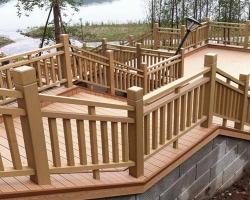 نرده چوب پلاست بهترین جایگزین برای نرده فلزی در فضای باز